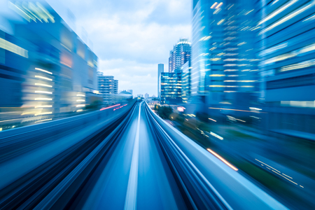 giao thông vận tải: đường hầm tàu điện ngầm với Motion blur của một thành phố từ bên trong, tuyệt vời cho thiết kế của bạn Kho ảnh