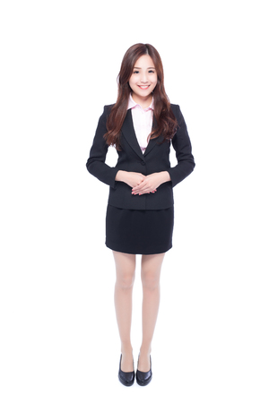 beauty full: business woman stands in full length,asia beauty Stock Photo