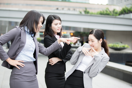 businesswoman bullying in office, asian