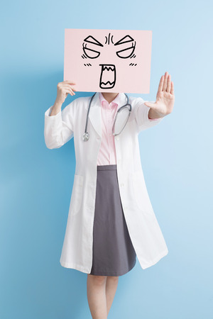 woamn doctor take angry billboard and show stop ,asian