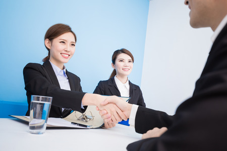 business people with interview in the office 写真素材