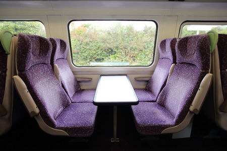 stateroom: train with window for your travel concept Stock Photo
