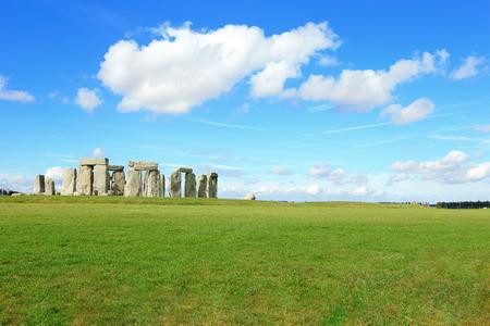 Stonehenge an ancient prehistoric stone monument near Salisbury Stock Photo