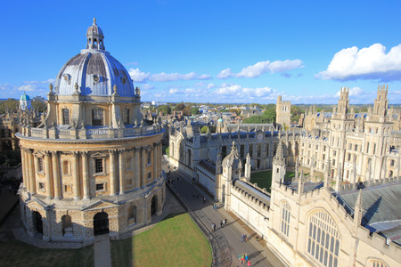 The Oxford University City with Photoed in the top of tower in St Marys Church