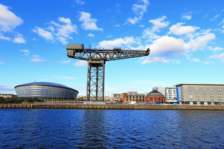 Glasgo with the River Clyde for your travel concept