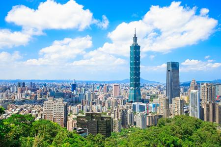 morning taipei city panorama in the taiwan 版權商用圖片 - 89214761