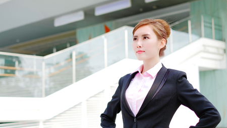 beauty business woman look something with office