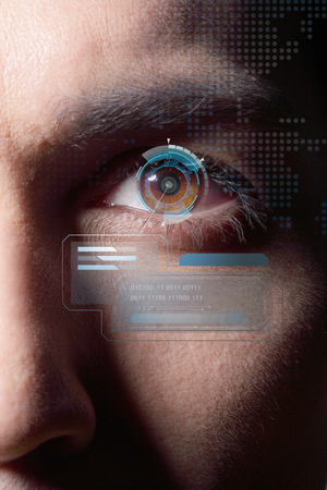 Iris identification system applied to a man