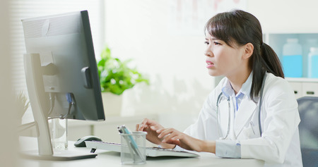 depressed woman doctor work and feel upset in the hospital