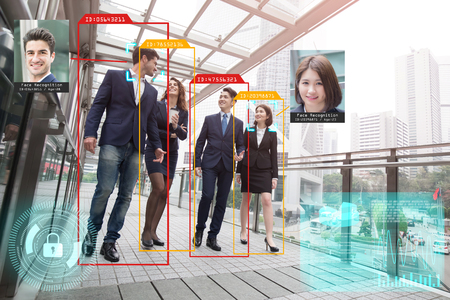 machine learning analytics identify person and object artificial intelligence concept