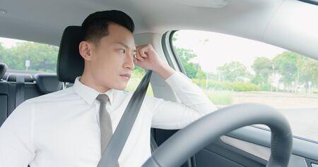 business asian man experience to ride an autonomous self driving car
