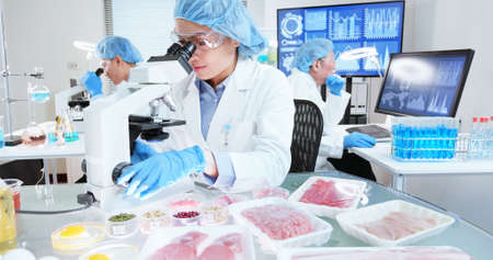asian scientist team has researching about food in the laboratory