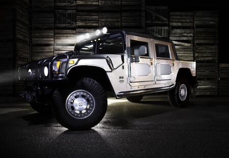 chrome: A hummer on display at the port