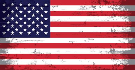 USA American Flag Grunge Distressed 版權商用圖片 - 59479446