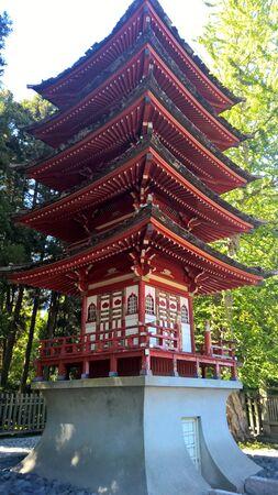 Asian Japanese Garden House Sculpture