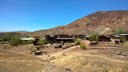 Ghost Town Abandoned Mining Town Wild West USA Stock Photo