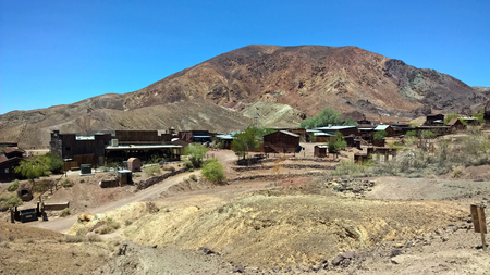 Ghost Town Abandoned Mining Town Wild West USA 版權商用圖片