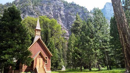 Yosemite National Park Church 版權商用圖片