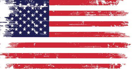 Drapeau des États-Unis en désordre