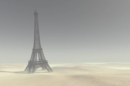 The tower has been destroyed in the Apocalypse-3D rendering