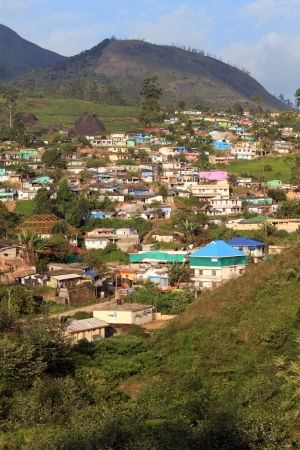 color homes fill hillside competing for wonderful views