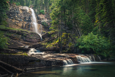 Virginia Falls, Glacier National Park, Montana, USA