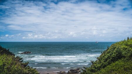 Image of the Oregon coast overlooking the ocean.