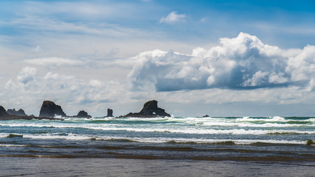A cloudy day on the Oregon coast.