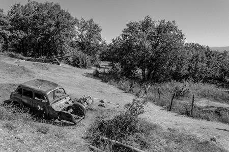 abandoned: abandoned car