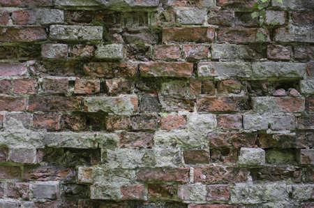 Leftovers of an ancient brick wall Banco de Imagens