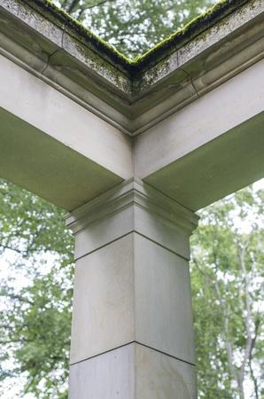 cornerstone: Upper corner of a old building Stock Photo