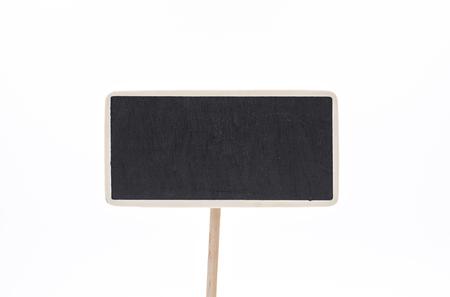 Slate blackboard on the white background.