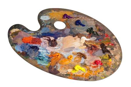 Painters palette Stock Photo
