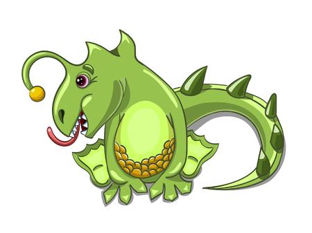 merrily: small dragon play Illustration