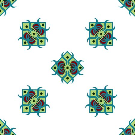 seamless pattern with square ornament on the white background