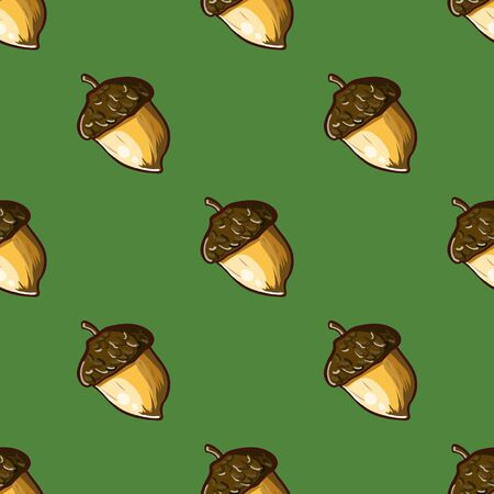 seamless background with hazelnuts. hand-drawn illustration Vector