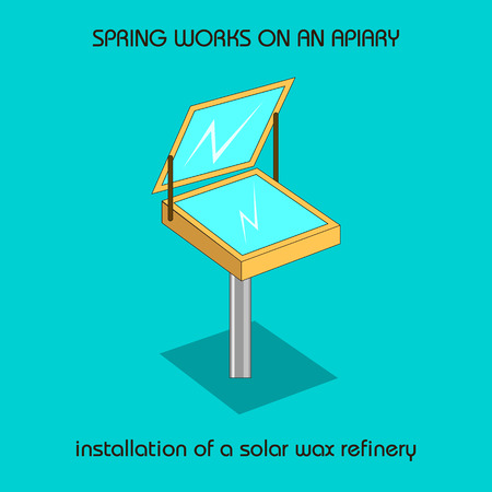 The information poster spring work on an apiary. installation of a solar wax refinery.