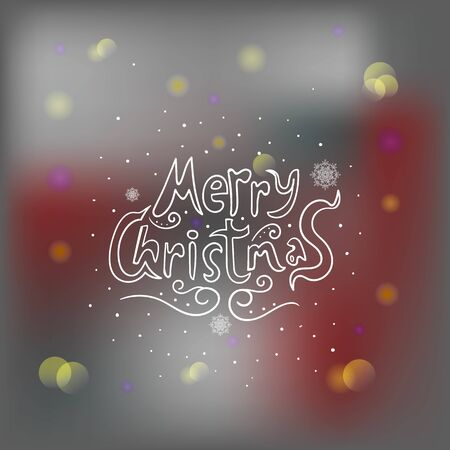 blur effect: Greeting card with blur effect and text Merry Christmas. New Year illustration