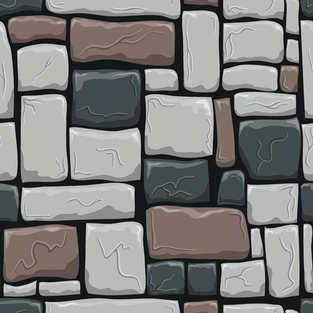 Seamless pattern with decorative stones. Vector stone wall. Decotative illustration can be use for web design, for design printing.