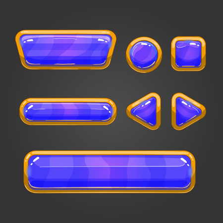 glass button: Set of game interface button. Button for web or game design.