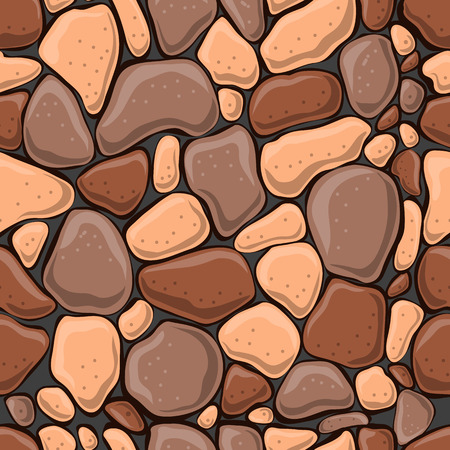 Seamless pattern with decorative stones. Vector stone wall.
