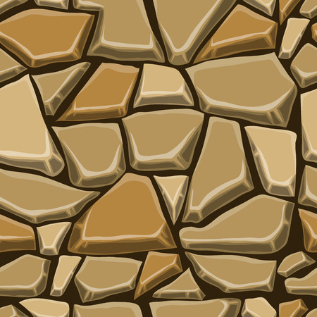 stone wall: Seamless pattern with decorative stones. Vector stone wall.