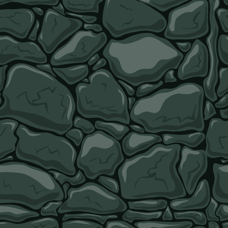 stonewall: Seamless pattern with decorative stones. Vector stone wall.