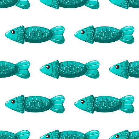 fish animal: Seamless pattern with fish. Sea illustration.