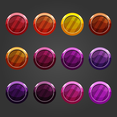 jewels: Cute cartoon shiny bubbles. Vector element can be used for game design. Illustration