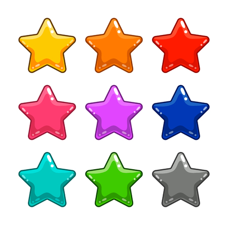 gui: Colorful star isolated on white. Can be used in gui and web design.