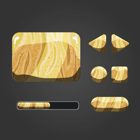 barren: Set of sand different buttons. For game design