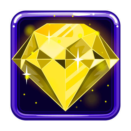 The application icon with gems. Game design illustration.