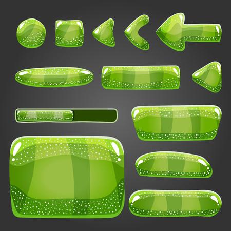 Big set of shiny button. Game illustration