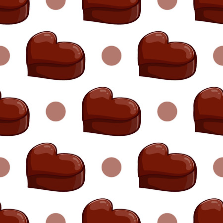 valentineday: Seamless pattern with chocolate heart